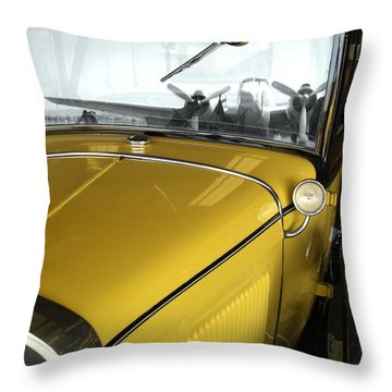 Reflection Of The Past Throw Pillow by Bill Gallagher