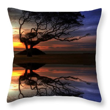 Reflection Of Troubled Times Throw Pillow