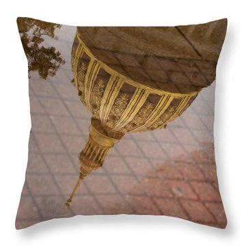 reflection of WV Throw Pillow by Shane Holsclaw