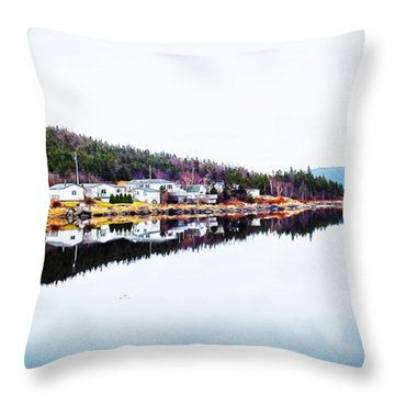 Reflection On Second Pond Throw Pillow by Zinvolle Art