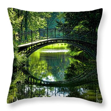 Reflection Paradise Throw Pillow by Mariola Bitner