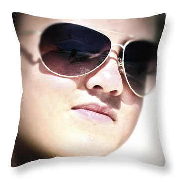 Throw Pillow featuring the photograph Reflection by Pennie  McCracken
