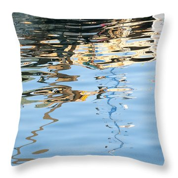 Throw Pillow featuring the photograph Reflections - White by Susie Rieple