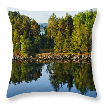 Reflections 1 Sweden Throw Pillow by Marianne Campolongo