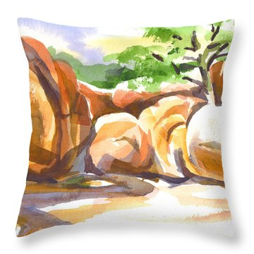 Reflections At Elephant Rocks Throw Pillow by Kip DeVore