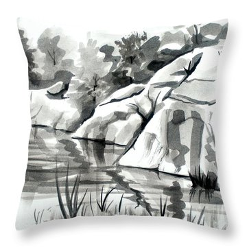 Reflections At Elephant Rocks State Park No I102 Throw Pillow