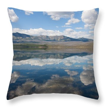 Reflections At Glacier National Park Throw Pillow