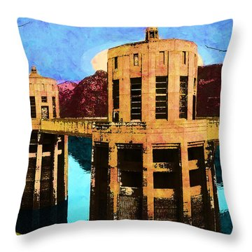 Reflections At Hoover Dam Throw Pillow