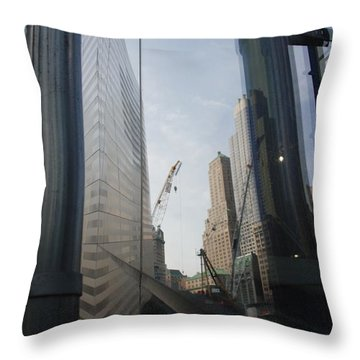 Reflections At The 9/11 Museum Throw Pillow by Rob Hans