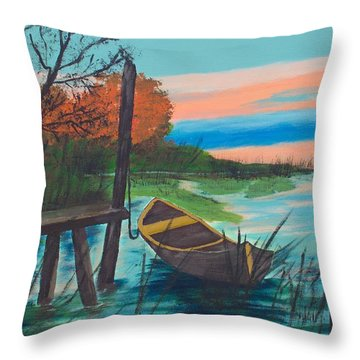 Reflections Throw Pillow by Cynthia Morgan