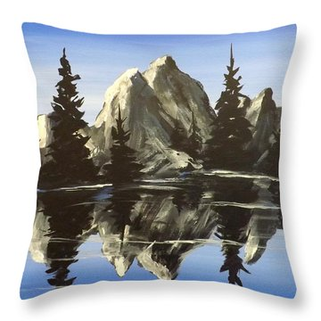 Reflections Throw Pillow by Darren Robinson