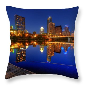 Throw Pillow featuring the photograph Reflections by Dave Files