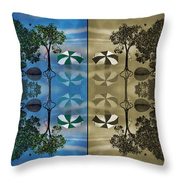 Reflections Throw Pillow by Betsy Knapp