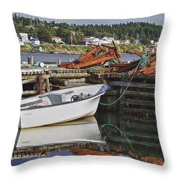 Reflections Throw Pillow by Eunice Gibb