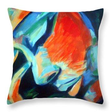 Reflections Throw Pillow by Helena Wierzbicki