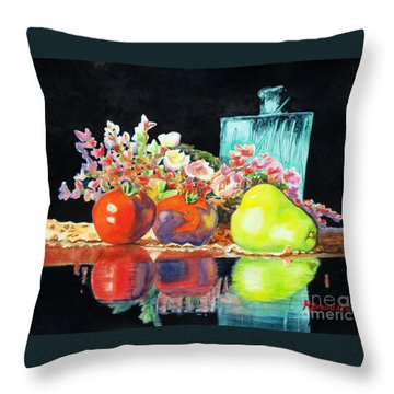 Reflections In Color Throw Pillow by Kathy Braud