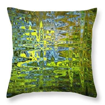 Reflections In Millard Creek Throw Pillow by Richard Farrington