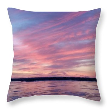 Reflections In Pink Throw Pillow
