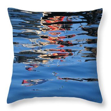 Throw Pillow featuring the photograph Reflections In Red by Susie Rieple