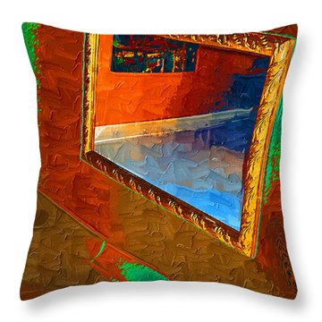 Reflections In The Mirror Throw Pillow by Jonathan Steward