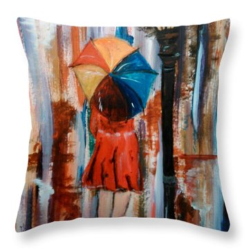 Throw Pillow featuring the painting Reflections  by Lori  Lovetere