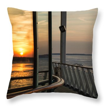 Throw Pillow featuring the photograph Reflections Of A Chesapeake Sunset by Bill Swartwout