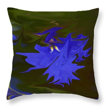 Reflections Of A Flower Throw Pillow by Carol Lynch