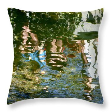 Reflections Of A Parade Throw Pillow