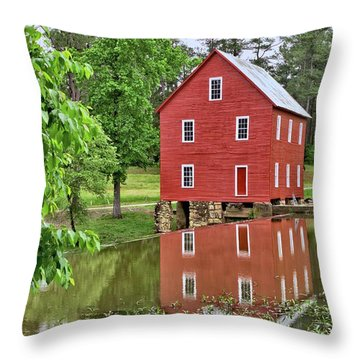 Reflections Of A Retired Grist Mill Throw Pillow