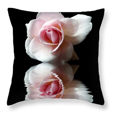 Reflections Of A Rose Throw Pillow