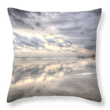 Reflections Of Amelia Island Throw Pillow by Wade Brooks