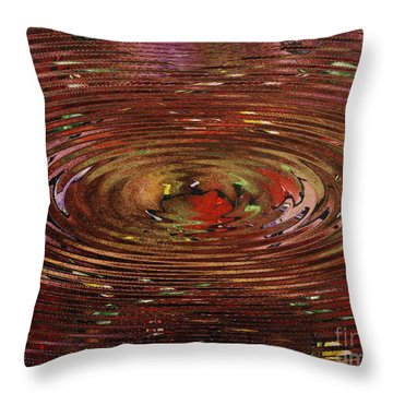 Reflections Of Christmas Throw Pillow by Wayne Cantrell