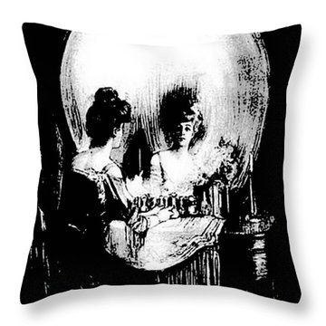 Reflections Of Death After Gilbert Throw Pillow by Tracey Harrington-Simpson