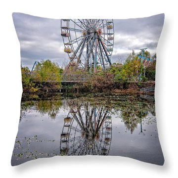 Reflections Of Fun Throw Pillow
