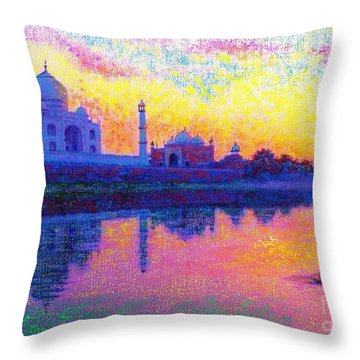 Taj Mahal, Reflections Of India Throw Pillow