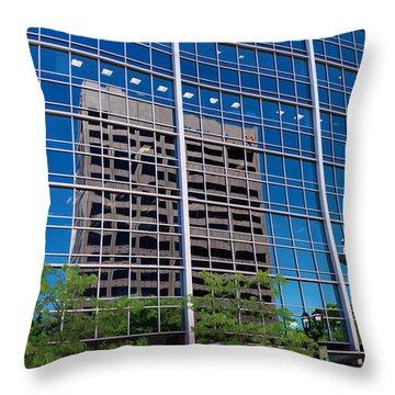 Reflections Of Milwaukee Throw Pillow