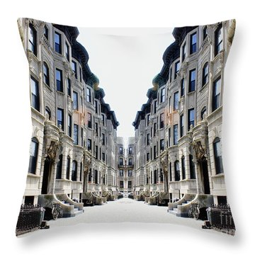 Reflections Of My Childhood Home Throw Pillow