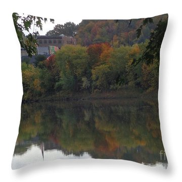 Reflections Of Pittston Throw Pillow