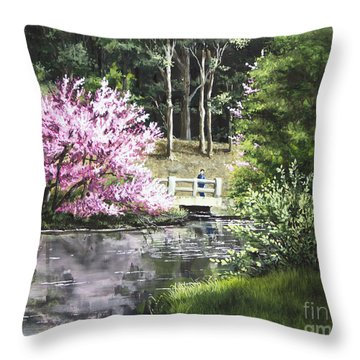 Reflections Of Spring Throw Pillow