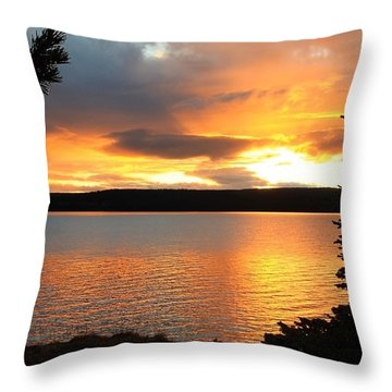 Throw Pillow featuring the photograph Reflections Of Sunset by Athena Mckinzie