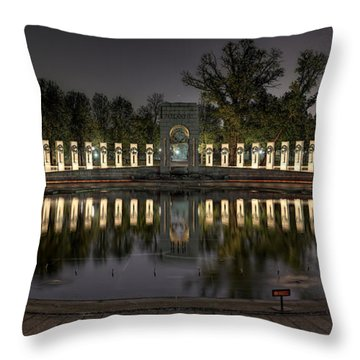 Reflections Of The Atlantic Theater Throw Pillow