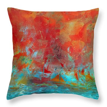Reflections Of The Fall Throw Pillow