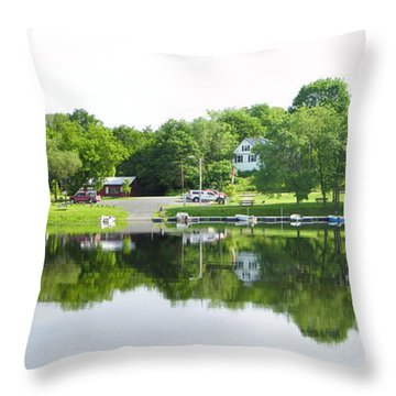 Reflections Of The Landing Throw Pillow