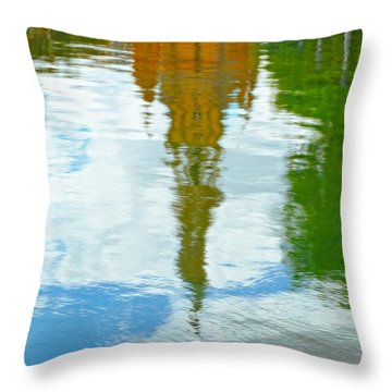 Reflections Of The Plaza De Espana  Throw Pillow