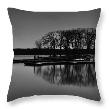Throw Pillow featuring the photograph Reflections Of Water by Miguel Winterpacht