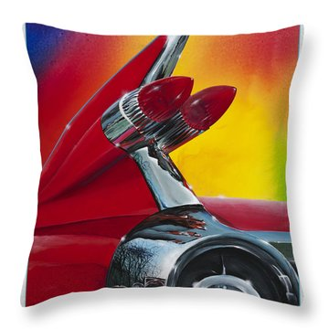 Throw Pillow featuring the painting Reflections Of Yesterday by Alan Johnson