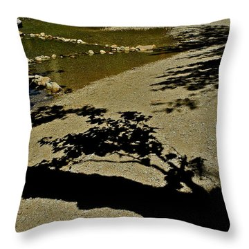 Reflections On A River Throw Pillow by Kirsten Giving