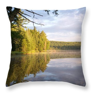 Reflections On Canisbay Lake Throw Pillow