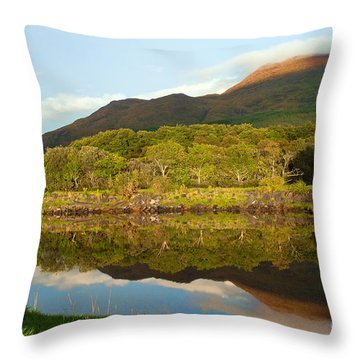 Reflections On Loch Etive Throw Pillow