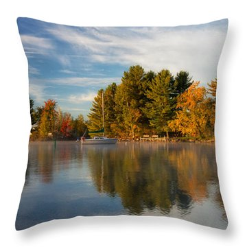 Reflections On Long Lake Throw Pillow